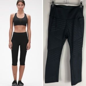 Gap Fit Sculpt Compression Leggings Cropped Black